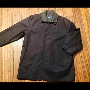 Men's Chaps Lined Trench Coat Duster Jacket 48R